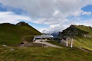Impianto di risalita sulla Marmolada. Trentino, Agosto 2020