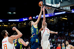 Luka Doncic of Slovenia vs Pau Gasol of Spain during basketball match between National Teams of Slovenia and Spain at Day 15 in Semifinal of the FIBA EuroBasket 2017 at Sinan Erdem Dome in Istanbul, Turkey on September 14, 2017. Photo by Vid Ponikvar / Sportida