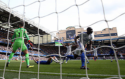 Cardiff City's Sol Bamba celebrates scoring his side's first goal of the game