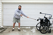 Tony Greager of Kennewick has been battling with Chronic Inflammatory Demyelinating Polyneuropathy, which attacks the nervous system, for 1.5 years. The affliction left him completely paralyzed at one point, but Greager is now able to walk without a cane after leaving his wheelchair in early September and his walker in early November.