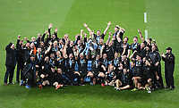 Rugby Union - 2019 / 2020 Gallagher Premiership - Final - Wasps vs Exeter Chiefs - Twickenham<br /> <br /> Exeter Chiefs lift the trophy after their 19-13 victory.<br /> <br /> COLORSPORT/ASHLEY WESTERN