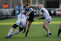 Rugby Union  - 2020 / 2021 Gallagher Premiership - Newcastle Falcons vs Gloucester - Kingston Park<br /> <br /> Tom Penny of Newcastle Falcons is tackled by Matt Garvey of Gloucester Rugby<br /> <br /> COLORSPORT/BRUCE WHITE