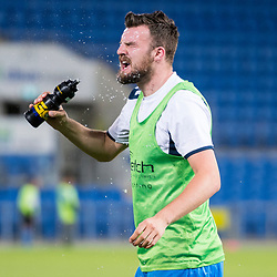 BRISBANE, AUSTRALIA - SEPTEMBER 20: Eoghan Murphy of Gold Coast City cools down before the Westfield FFA Cup Quarter Final match between Gold Coast City and South Melbourne on September 20, 2017 in Brisbane, Australia. (Photo by Gold Coast City FC / Patrick Kearney)
