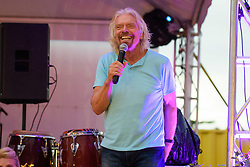EDITORIAL USE ONLY Sir Richard Branson at the launch of Virgin Holidays Departure Beach in Barbados.