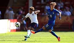 England U17's Dylan Crowe (left) and Italy U17's Nicolo Fagioii battle for the ball during the UEFA European U17 Championship, Group A match at Banks's Stadium, Walsall.