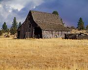 Weathered barn near Beech Creek Summit, eastern Oregon.