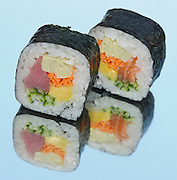 Tuna and Salmon Sushi Futo Maki