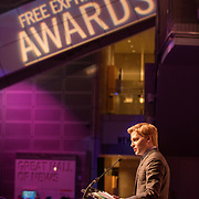 Ronan Farrow at the 2018 Free Expression Awards at The Newseum
