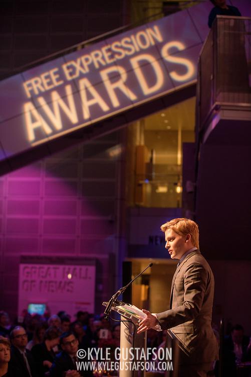 Ronan Farrow at the 2018 Free Expression Awards at The Newseum