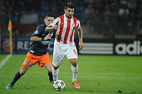 FOOTBALL - UEFA CHAMPIONS LEAGUE 2012/2013 - GROUP STAGE - GROUP B - MONTPELLIER HSC v OLYMPIACOS - 24/10/2012 - PHOTO SYLVAIN THOMAS / DPPI - PAULO MACHADO (OFC) / REMY CABELLA (MHSC)