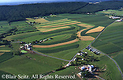 Southcentral Pennsylvania, Aerial Photographs, Farmlands, Cultivation and Contour Farming, Blue Ridge Mountain, Dauphin Co., PA