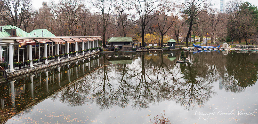 The Boathouse restaurant in Central Park, seen from The Point