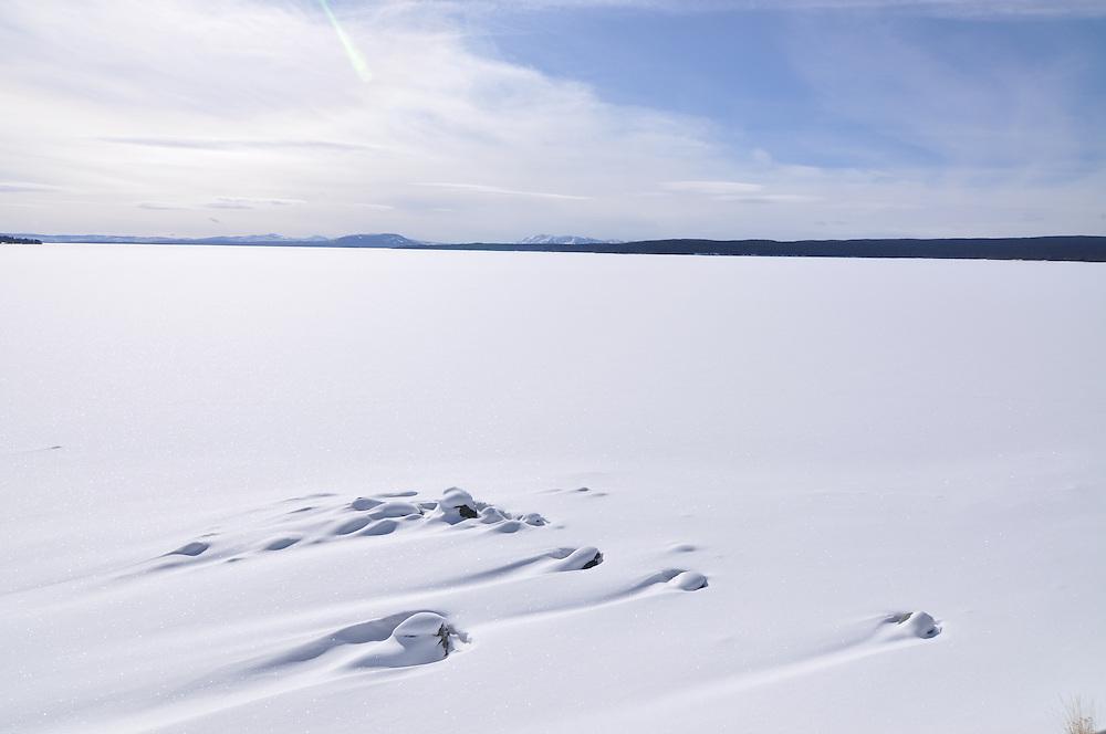 Yellowstone Lake in winter