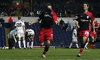 Photo: Paul Thomas.<br /> Leeds United v Southampton. Coca Cola Championship. 18/11/2006.<br /> <br /> Southampton goal scorer Rudi Skacel (L) celebrates his goal with Gareth Bale (R).