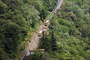 Italy, Lombardy, Lake Como cable train
