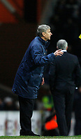 Photo: Paul Greenwood/Sportsbeat Images.<br />Blackburn Rovers v Arsenal. Carling Cup, Quarter Final. 18/12/2007.<br />Arsenal manager Arsene Wenger issues the orders from the touchline