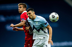 Sergiu Platica of Moldova vs Haris Vuckic of Slovenia during the UEFA Nations League C Group 3 match between Slovenia and Moldova at Stadion Stozice, on September 6th, 2020. Photo by Vid Ponikvar / Sportida
