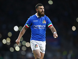 March 9, 2019 - London, England, United Kingdom - London, ENGLAND, 9th March .Jayden Hayward of Italy .during the Guinness 6 Nations Rugby match between England and Italy at Twickenham  stadium in Twickenham  England on 9th March 2019. (Credit Image: © Action Foto Sport/NurPhoto via ZUMA Press)