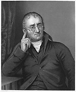 John Dalton (1766-1844) English chemist and schoolmaster. Described colour blindness (Daltonism) from which both he and his brother suffered.  Engraving.