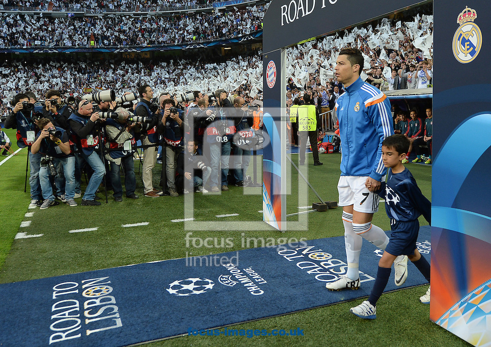 Cristiano Ronaldo of Real Madrid during the UEFA Champions League match against Bayern Munich at the Estadio Santiago Bernabeu, Madrid<br /> Picture by Andrew Timms/Focus Images Ltd +44 7917 236526<br /> 23/04/2014