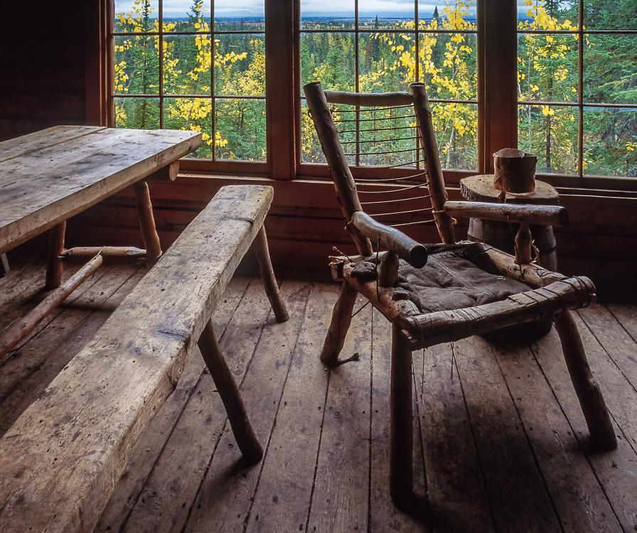 Historic building near the Village of Kobuk September, Kobuk Valley National Park, Alaska, USA