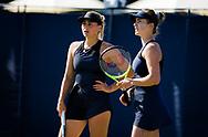 Elina Svitolina and Marta Kostyuk of Ukraine playing doubles at the 2021 Viking International WTA 500 tennis tournament on June 23, 2021 at Devonshire Park Tennis in Eastbourne, England - Photo Rob Prange / Spain ProSportsImages / DPPI / ProSportsImages / DPPI