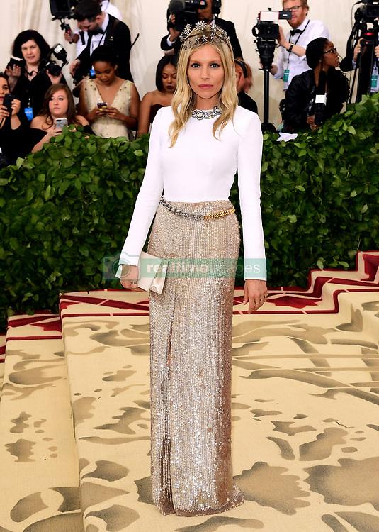 Sienna Miller attending the Metropolitan Museum of Art Costume Institute Benefit Gala 2018 in New York, USA.