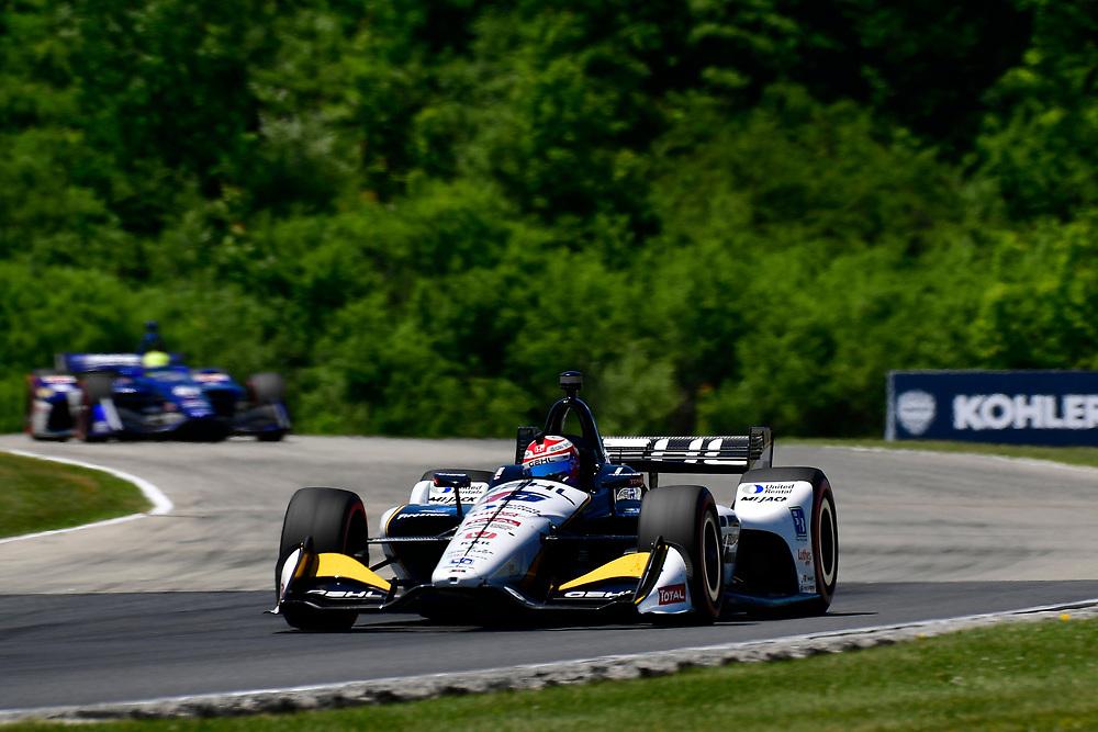 Graham Rahal, Rahal Letterman Lanigan Racing Honda<br /> Sunday 24 June 2018<br /> KOHLER Grand Prix at Road America<br /> Verizon IndyCar Series<br /> Road America WI USA<br /> World Copyright: Scott R LePage