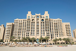 Exterior view of Fairmont The Palm luxury Hotel of The Palm Jumeirah artificial Island in Dubai United Arab Emirates