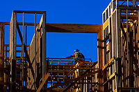 Construction workers, Littleton, Colorado USA.