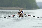 Hazewinkel. BELGUIM  GBR M2-. Bow Alex PARTRIDGE and Andy TRIGGS HODGE. 2004 GBR Rowing Trials - Rowing Course, Bloso, Hazewinkel. BELGUIM. [Mandatory Credit Peter Spurrier/ Intersport Images]