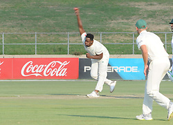 Johannesburg 19-12-18. South Africa Invitation XI vs Pakistan. Pakistan open their tour of South Africa with a three-day match at Sahara Willowmoore Park, Benoni. Day 1, afternoon session.  South African bowler Thandolwethu Mnyaka in his delivery stride. Picture: Karen Sandison/African News Agency(ANA)