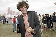 Poet: Murray Lachlan Young, The Cornish Birthday party to Celebrate John Betjeman's Centenary. Carruan Farm. Polzeath. Conrwall. In aid of the new Padstow Lifeboat Station. 28 August 2006. ONE TIME USE ONLY - DO NOT ARCHIVE  © Copyright Photograph by Dafydd Jones 66 Stockwell Park Rd. London SW9 0DA Tel 020 7733 0108 www.dafjones.com