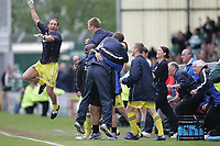 Photo: Lee Earle.<br /> Yeovil Town v Colchester United. Coca Cola League 1. 06/05/2006. Colchester manager Phil Parkinson and the staff celebrate at the final whistle.