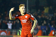 Crawley Town defender Josh Yorwerth (15) celebrates his goal to make it 2-1 during the EFL Sky Bet League 2 match between Crawley Town and Newport County at the Checkatrade.com Stadium, Crawley, England on 17 December 2016. Photo by Andy Walter.