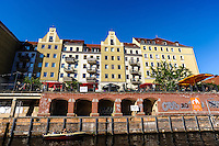 Berlin, Germany. Nikolaiviertel, Nikolai Quarter, is the reconstructed historical heart of the city.