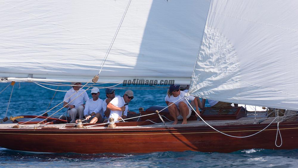 Classic Yacht Silhouette sailing in Saint Tropez