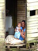 Maternal pride, Kadavu Koro, Fiji.
