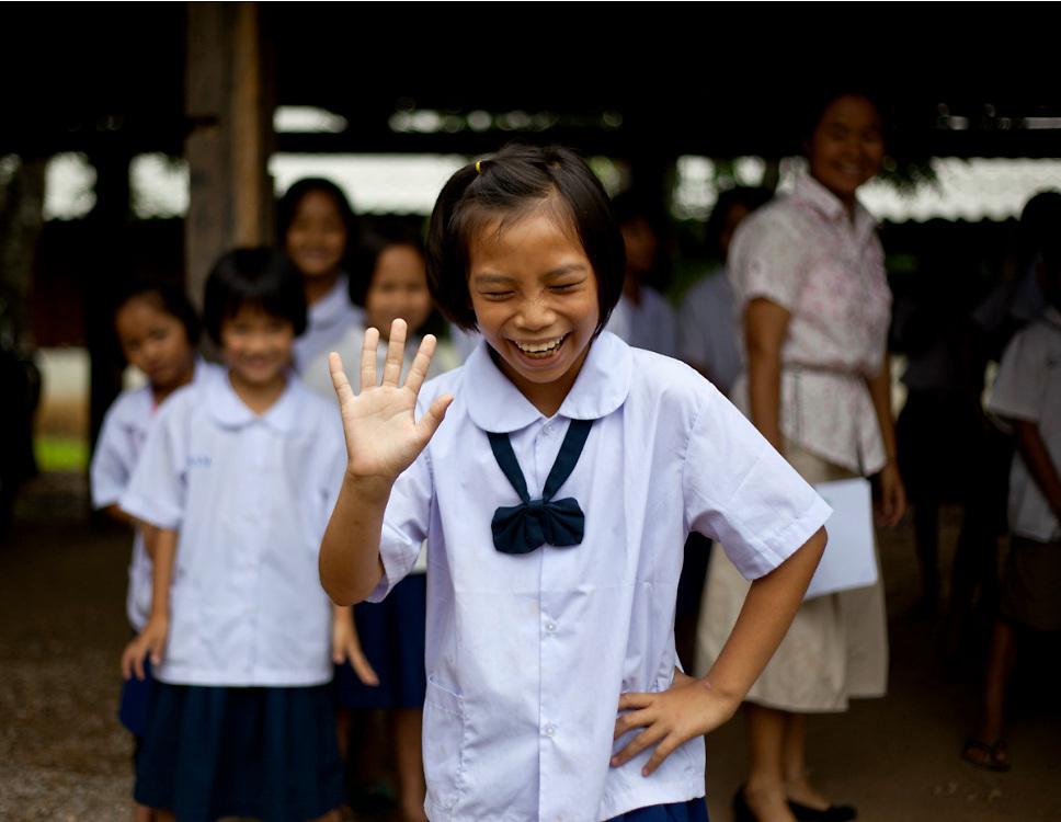 School children at Mowah Village outside Mae Sot, Thailand.