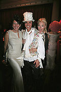 Ghislaine Maxwell,  Andy Wong and Tamara Beckwith, Andy and Patti Wong's Chinese New Year of the Pig party. Madame Tussauds. ( Dress Burlesque, Debauched or Hollywood Black Tie. ) London. 27 January 2007.  -DO NOT ARCHIVE-© Copyright Photograph by Dafydd Jones. 248 Clapham Rd. London SW9 0PZ. Tel 0207 820 0771. www.dafjones.com.
