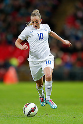 Toni Duggan of England in action - Photo mandatory by-line: Rogan Thomson/JMP - 07966 386802 - 23/11/2014 - SPORT - WOMEN'S FOOTBALL - Wembley Stadium - England v Germany - Breast Cancer Care International Friendly Match.