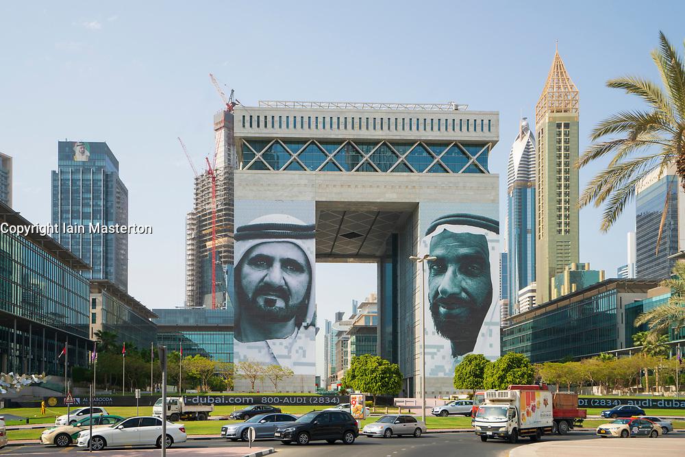 DIFC ( Dubai International Financial Centre) a special economic zone in Dubai, UAE, United Arab Emirates.