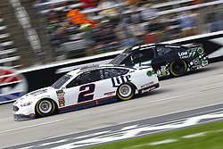 April 8, 2018 - Ft. Worth, Texas, United States of America - April 08, 2018 - Ft. Worth, Texas, USA: Brad Keselowski (2) and Ross Chastain (15) battle for position during the O'Reilly Auto Parts 500 at Texas Motor Speedway in Ft. Worth, Texas. (Credit Image: © Chris Owens Asp Inc/ASP via ZUMA Wire)
