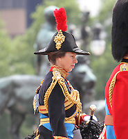 Princess Anne Queen's Birthday Parade, Trooping The Colour, UK, 12 June 2010:  For piQtured Sales contact: Ian@Piqtured.com +44(0)791 626 2580 (Picture by Richard Goldschmidt/Piqtured)