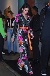 """Kendall Jenner in head to toe Off-white at the """"Jimmy Choo x Off-White"""" event. 11 Feb 2018 Pictured: Kendall Jenner. Photo credit: STB / MEGA TheMegaAgency.com +1 888 505 6342"""