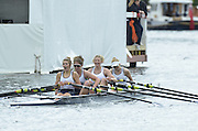 Henley, GREAT BRITAIN. Junior Women's Quadruple Sculls, Henley RC. winning the final at 2012 Henley Royal Regatta.  ..Sunday  12:28:11  01/07/2012. [Mandatory Credit, Peter Spurrier/Intersport-images]...Rowing Courses, Henley Reach, Henley, ENGLAND . HRR.