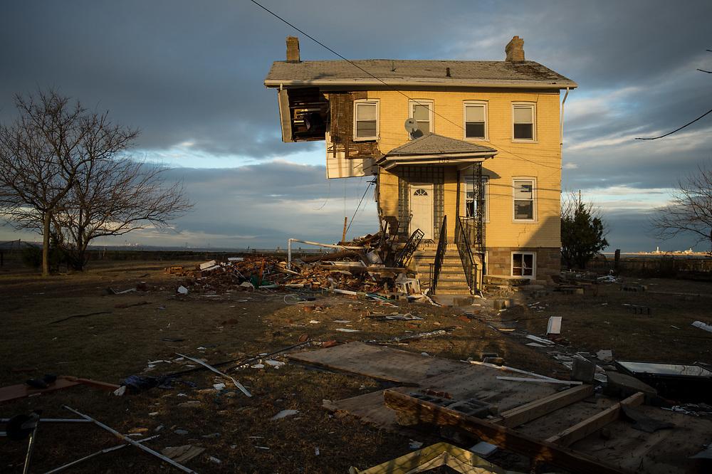 Destroyed homes and neighborhoods in Union Beach, NJ November 8, 2012. Photo Ken Cedeno