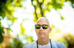 Rok Predanic, former Slovenian athlete and coach, interviewed by Siol Sportal, on July 10, 2020 in ZAK, Ljubljana, Slovenia. Photo by Vid Ponikvar / Sportida