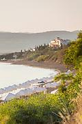 Scenic view of sea beach at sunset, Neo Chorio, Cyprus