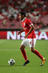 September 12, 2017 - Lisbon, Portugal - Benfica's Mexican forward Raul Jimenez in action during UEFA Champions League football match SL Benfica vs CSKA Moscow at the Luz stadium in Lisbon, Portugal on September 12, 2017. Photo: Pedro Fiuza (Credit Image: © Pedro Fiuza via ZUMA Wire)